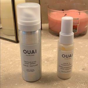 OUAI: Texturizing Hair Spray & Leavein conditioner